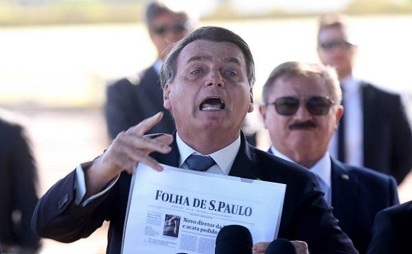 A Folha de S.Paulo tem sido um dos alvos preferidos de Jair Bolsonaro
