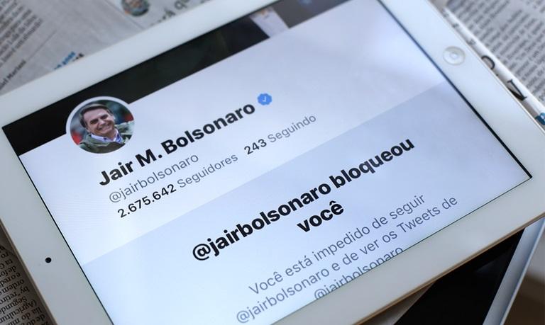 Jair Bolsonaro está entre as autoridades que mais bloquearam jornalistas nas redes sociais