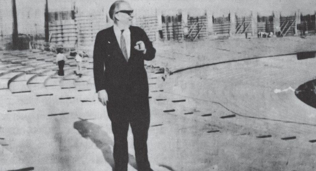 Mário Filho nas obras do Maracanã