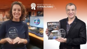 Leandro Fidelis e Hellen Santos levam o Prêmio Alltech de Jornalismo
